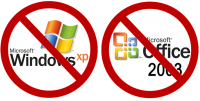 Fin de carrière pour Windows XP et Office 2003 !